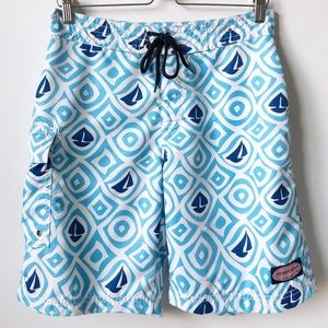 Vineyard Vines • Sailboat Print Swim Trunks 19""